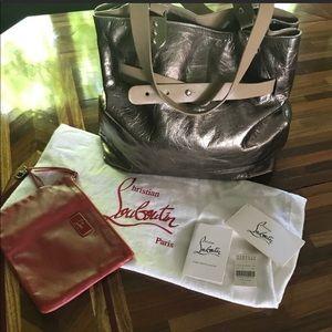 metallic Christian Louboutin handbag
